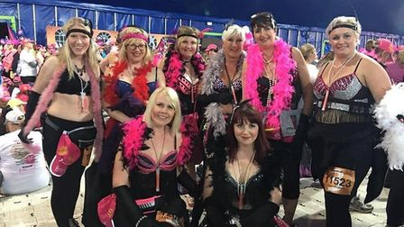 Fenland Flappers take part in the Moonwalk