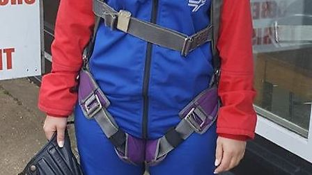 Natalie Tuerena braves a skydive for the East Anglian Children's Hospice, the Ridgeons charity of th