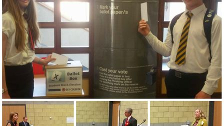 Students at Ely College enjoy political hustings and a mock vote as South East Cambs parliamentary c