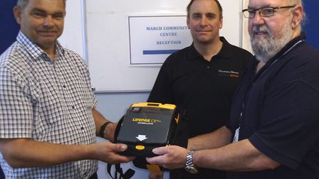 March now has 30 defibrillators following the installation of the latest one at the March Community