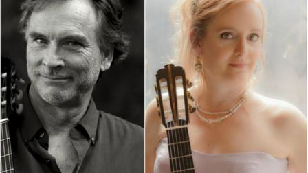 Guitarists Frank Wallace and Valerie Hartzell to perform at St James C of E Church in Cambridge.