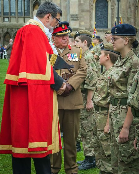 The sun and crowds came out for the annual service and parade on Sunday at Ely Cathedral for the Roy