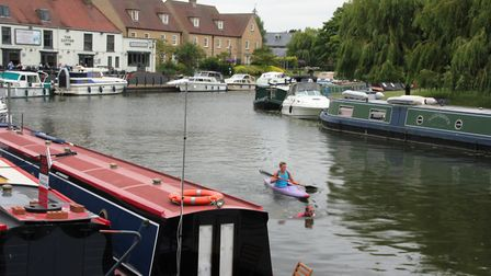 Joseph Whitmore sets off from The Cutter in Ely. PHOTO: Michael Rouse