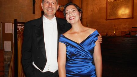Conductor Timothy Redmond and soprano soloist Stephanie Corley.