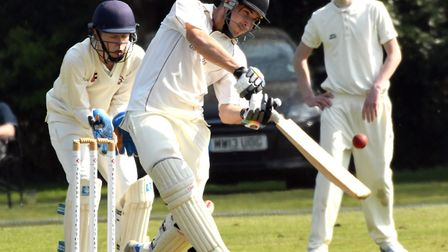 Brandon Phillips hit 60 in March Town's narrow defeat to Godmanchester. PHOTO: Ian Carter