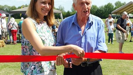 Ely Hero Bert Russell and Lucy Frazer MP opened Little Thetford Village Feast on Saturday.