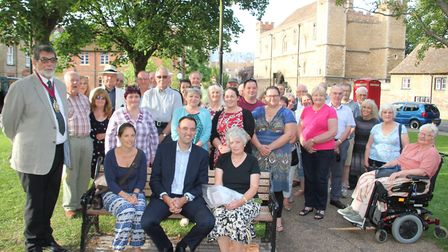Friends, family and councillors gathered for the unveiling of a memorial bench placed in Barton Squa