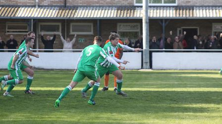 Lloyd Groves - pictured here after sealing Soham's dramatic 4-3 over Maldon & Tiptree last season -