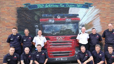 Wall mural revealed to mark Whittlesey fire station's 50 years in town