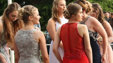 Witchford Village College pupils prom is a real ball - despite the rain