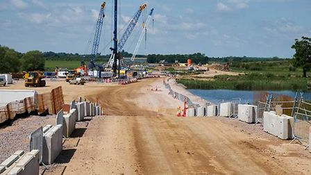The A14 is taking shape. A view from the ground PHOTO: Highways England