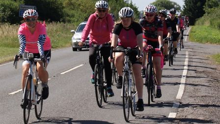 Chatteris Cycling Club women members held their first 'Pink Ribbon Ride' cycling event on Sunday Jul