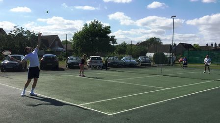 Chatteris St Peters Tennis Club hosted the latest instalment of the Priddey Cup Tournament last week