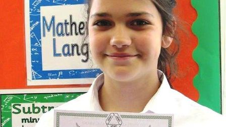 Sophie Carrick of Cromwell Community College took part in a maths challenge