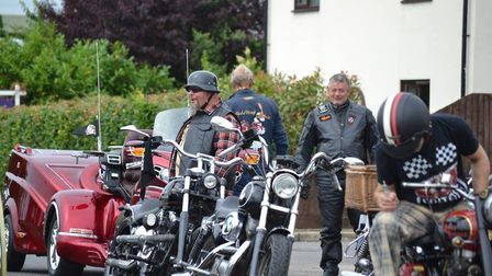 Dean Howard and the Harley Davidson bikers. Picture: ALICE HOWARD.