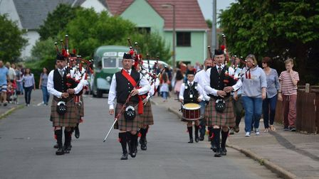 Cambridgeshire Caledonian Pipe Band. Picture: ALICE HOWARD.