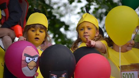 Angry Birds float. Picture: ALICE HOWARD.