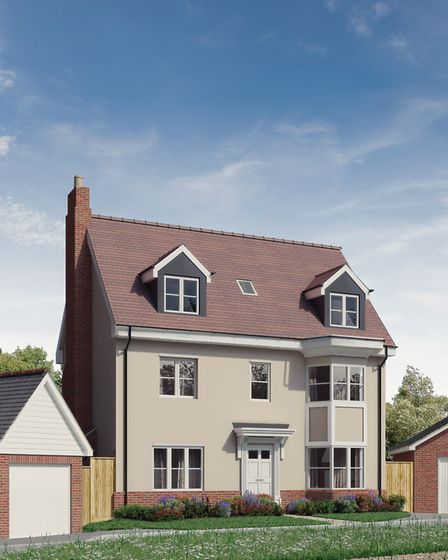 A computer-generated image of what one of the houses will look like. Picture: Stockplace Homes