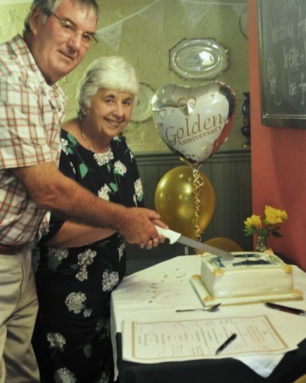 Neil and Irene Cook celebrate their golden wedding