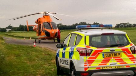 Man in his 20s injured and taken to hospital after two-vehicle collision near Whittlesey.