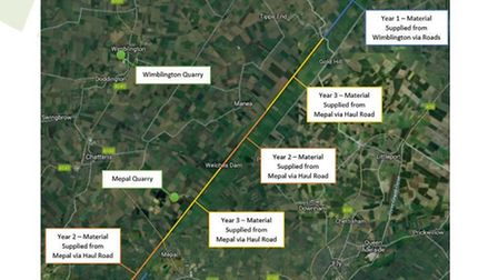 The first stage of a multi-million-pound flood defence scheme to improve the safety of The Ouse Wash