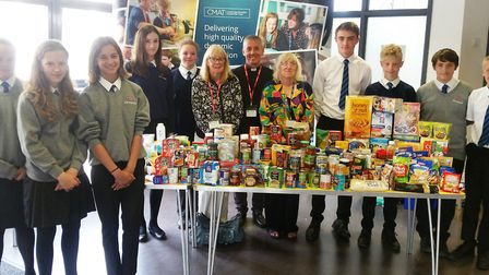 Ely College students have made a donation to Littleport Foodbank.