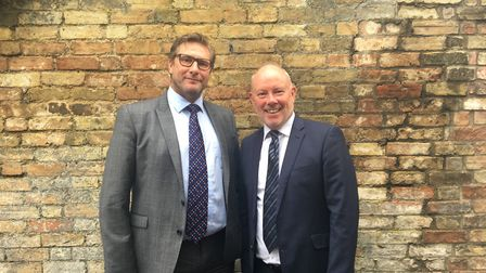 Mayor James Palmer with Martin Whiteley the newly appointed CEO of Cambridge and Peterborough Combin