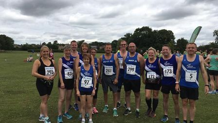 The March AC runners who took part in the Ramsey Abbey 10k.