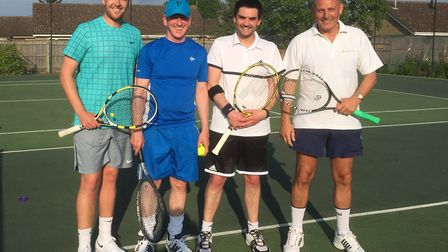 From the left, Andrew Fox, Alan Patey, Charlie Gienke and Simon Grainger helped Chatteris Tennis Clu