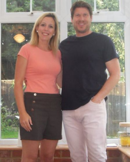 Dean and Lydia Chandler after their weight loss. Picture: LYDIA CHANDLER