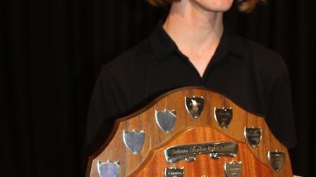 Soham Village College musician of the year. Young Musician Jacob Cox.