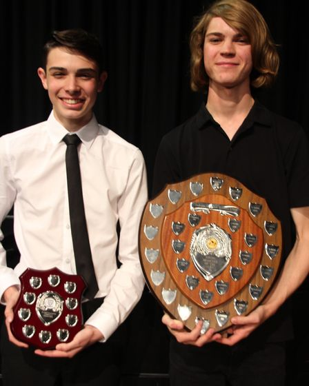 Soham Village College musician of the year. Felix Jewkes and Jacob Cox.