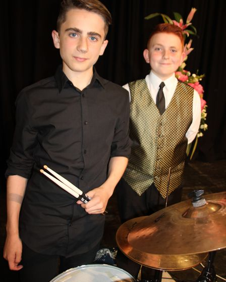 Soham Village College musician of the year. Tom Kay, drummer and Daniel Perel-Hubbard, pianist - win