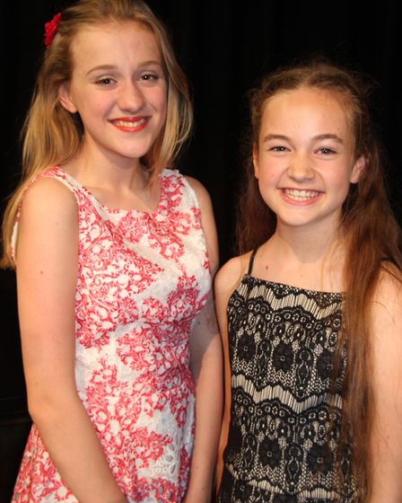 Soham Village College musician of the year. Holly Dack (right) and Eliza Collins.