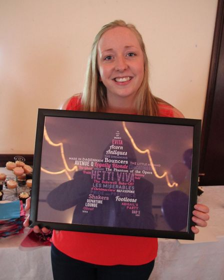 Hetti Wood with her leaving present.