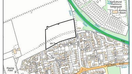 Land adjacent to 43 Mepal Road, Sutton is the site for plans for 77 homes.