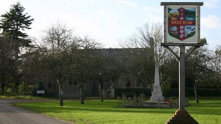 West Row sign.