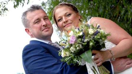Darren Shepherd and Louise McGregor were married at St Peter's Church, March.