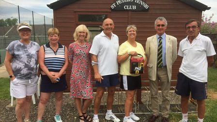 Chatteris Tennis Club has been given an automated exterior defibrillator by the Seniors Lawn Tennis