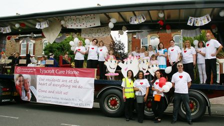 Lyncroft Care Home in Wisbech get involved in the Rose Fair parade PHOTO: Lyncroft Care Home