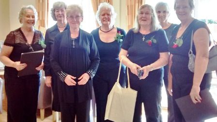 Members of the Isle Singers choir at Aira Court: Wendy Powell, Janet Hitch, Rosemary Westwell, Sandr