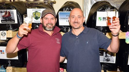 Gorefield Beer Festival. Nick Turner and Kevin Burton PHOTO: Ian Carter