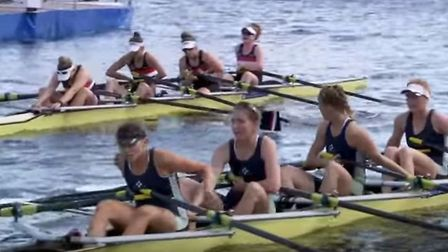 The Isle of Ely Rowing Club's junior quarter at the Henley Royal Regatta.