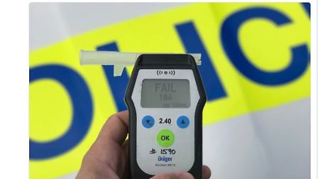 Drink drive blew five times the legal limit in March PHOTO: Fencops