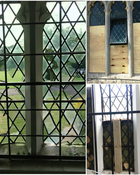 Nine glass windows smashed at Ely Cemetery causing £17,000 of damage.
