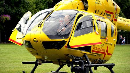 Prince William, the Duke of Cambridge, flew to Wisbech with the East Anglian Air Ambulance.