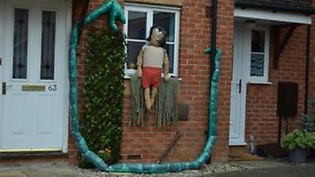 Scarecrow competition judged by Shelley Davies, of Witchford Post Office.