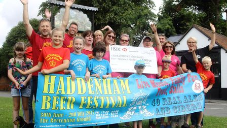 This year's Haddenham Beer Festival raised £8,000 for a number of local causes.