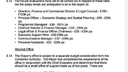 Salaries being discussed for appointment to Cambridgeshire and Peterborough Combined Authority