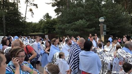 Hundreds of people evacuated at Center Parcs at Elveden, Thetford PHOTO: John Nice